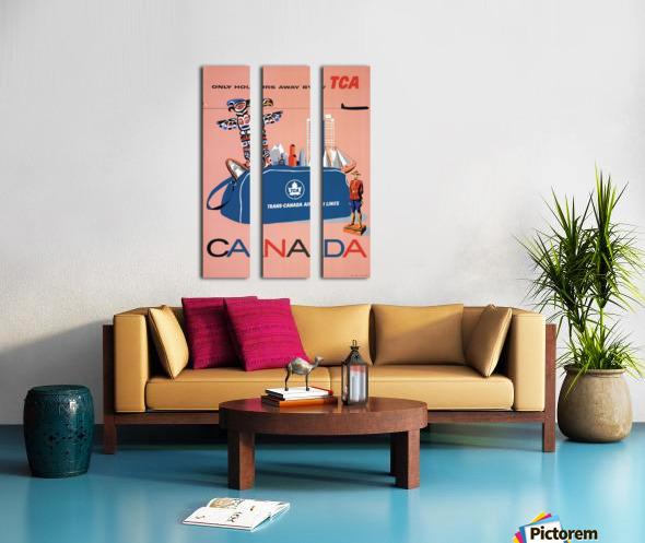 Vintage Toronto travel poster Split Canvas print