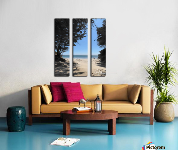Peaceful Beach Split Canvas print