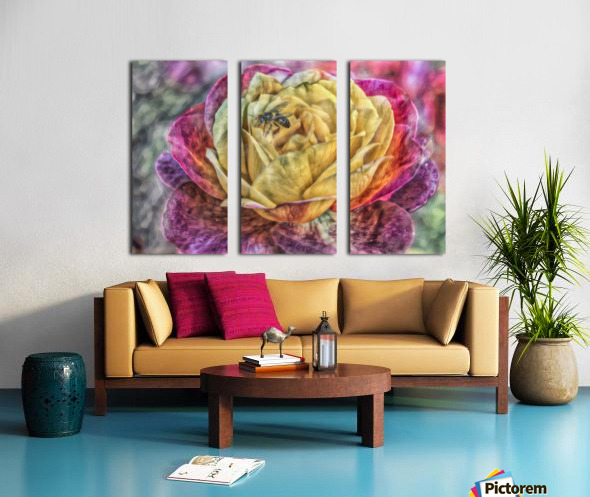 Beezy Blossom Split Canvas print