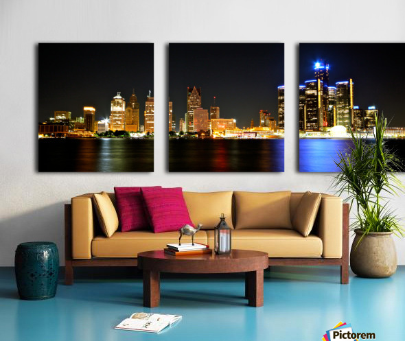 Detroit Skyline Split Canvas print