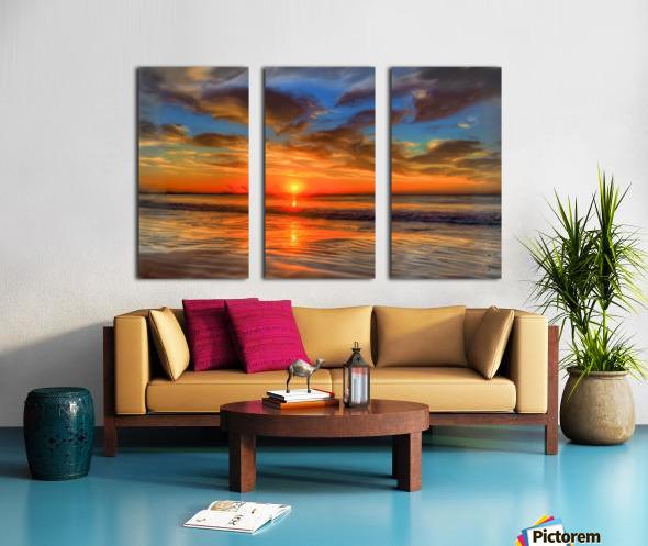 Golden Sea Split Canvas print