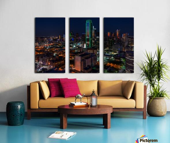 Dallas Skyline Split Canvas print