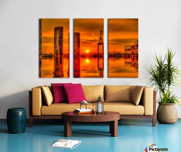 Liquid Gold Split Canvas print