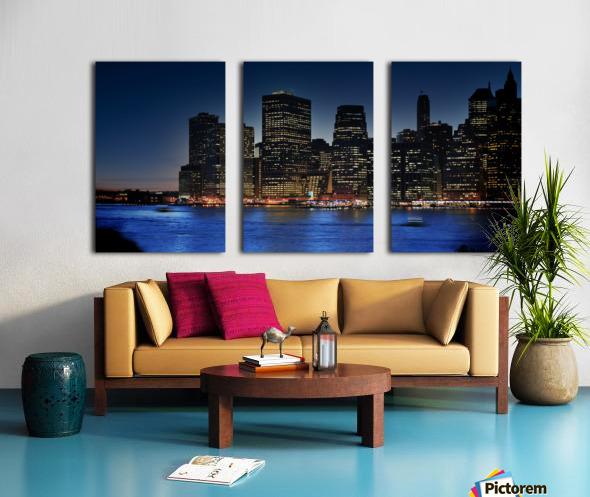 Brooklyn   USA Skyline Split Canvas print
