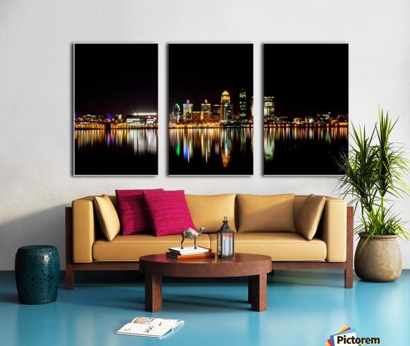 Louisville Skyline Split Canvas print