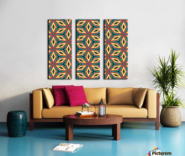 Colorful pattern Split Canvas print