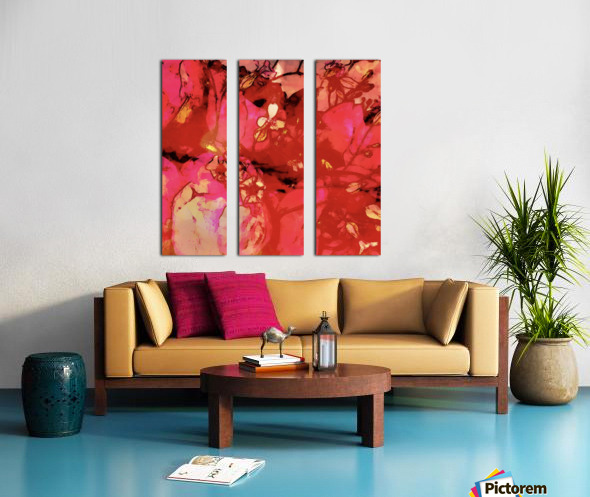 Aubepine  Split Canvas print