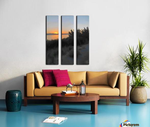 Sunset Over Lake Split Canvas print