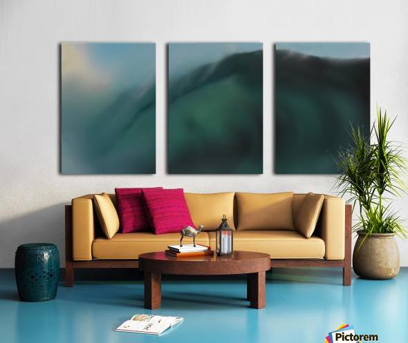 Night Wave Split Canvas print