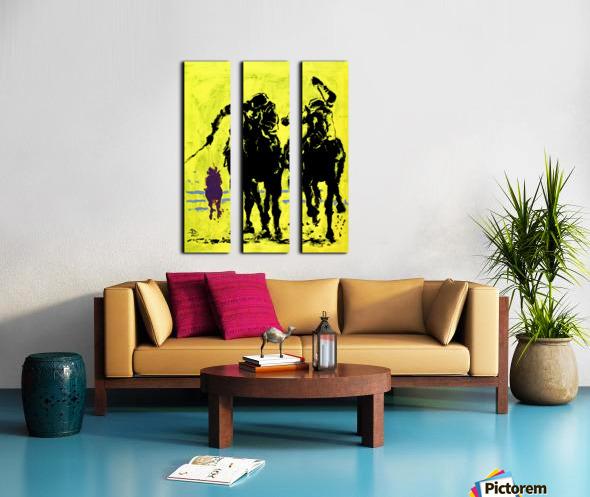 Triple Crowned Split Canvas print