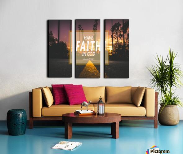 Have Faith in God Split Canvas print