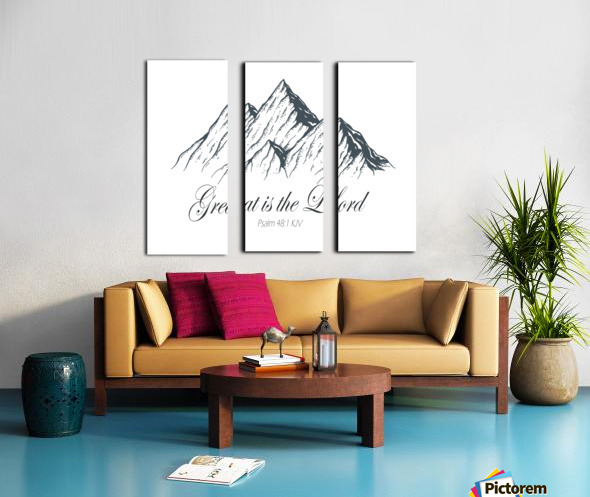Great is the Lord Split Canvas print