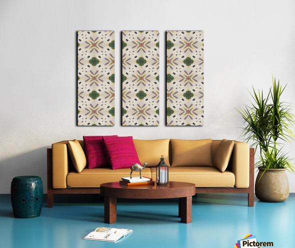 Greenflower Split Canvas print