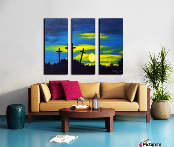 God loves you Split Canvas print