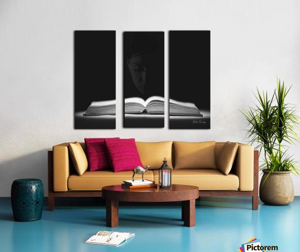 Bible Reading Split Canvas print