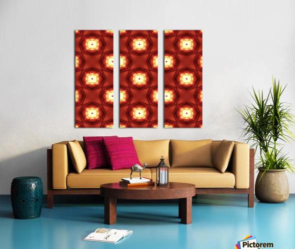 Fiery red Split Canvas print
