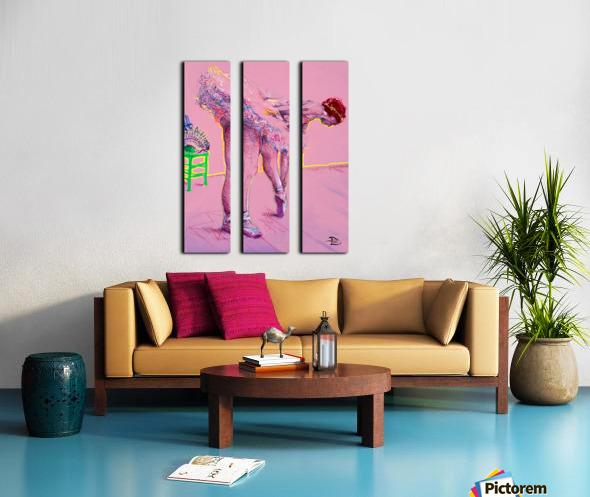 Pink Study East Split Canvas print