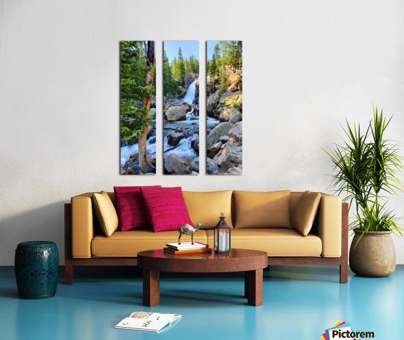 Alberta Falls Split Canvas print