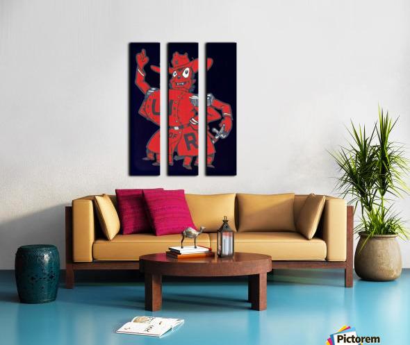 Vintage Fifties Richmond Spider Art Split Canvas print