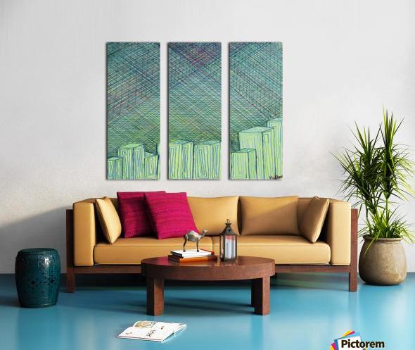 Greenblocks Split Canvas print