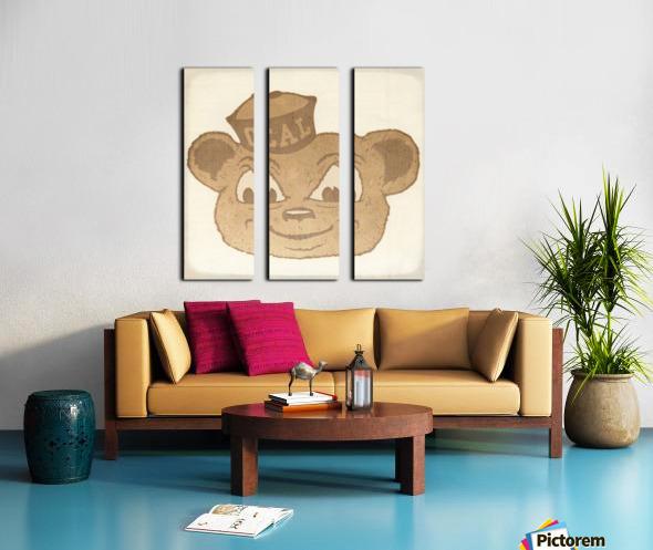 1966 Cal Bear Art | Row 1 Split Canvas print