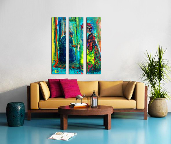 First Weeks Rent Split Canvas print