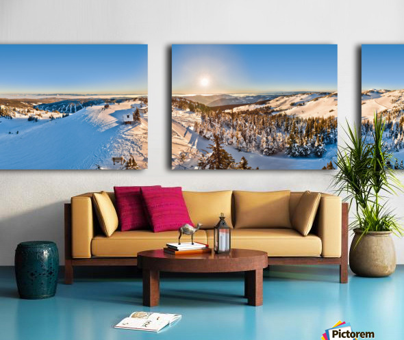 Above the Top of the World Split Canvas print
