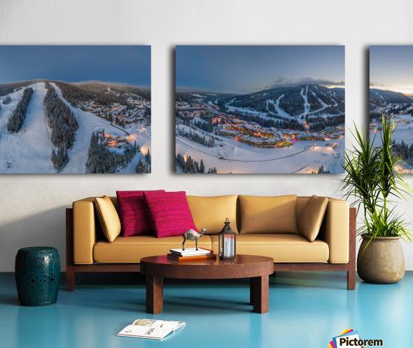 Fairytale Village Wide Split Canvas print