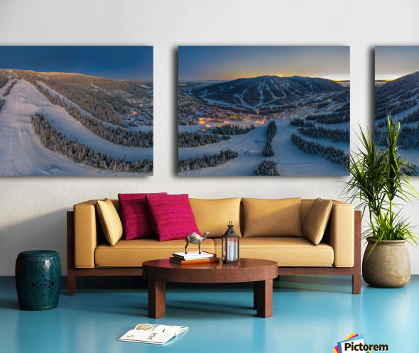 Valley Twilight Wide Split Canvas print