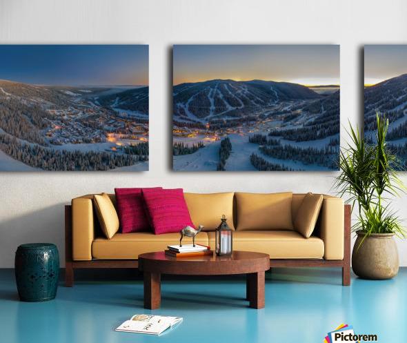 Valley Twilight  Split Canvas print