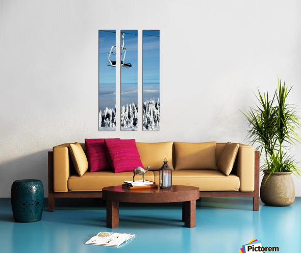 Steel Sky Split Canvas print