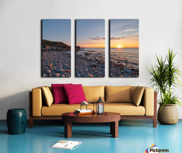 Corney Brook Sunset Split Canvas print