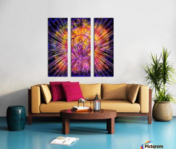 Light Body Activation Split Canvas print