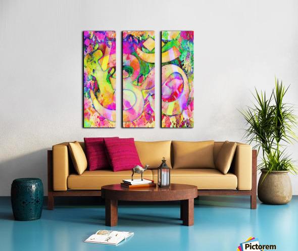 Om Rays Split Canvas print