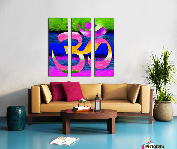 Om Waves Split Canvas print
