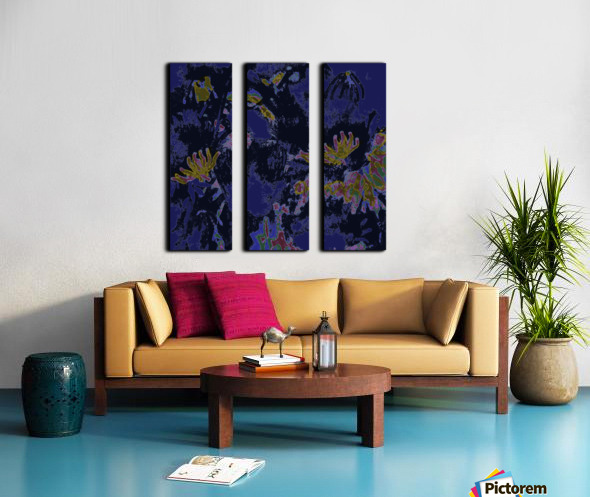 Zinnia Split Canvas print