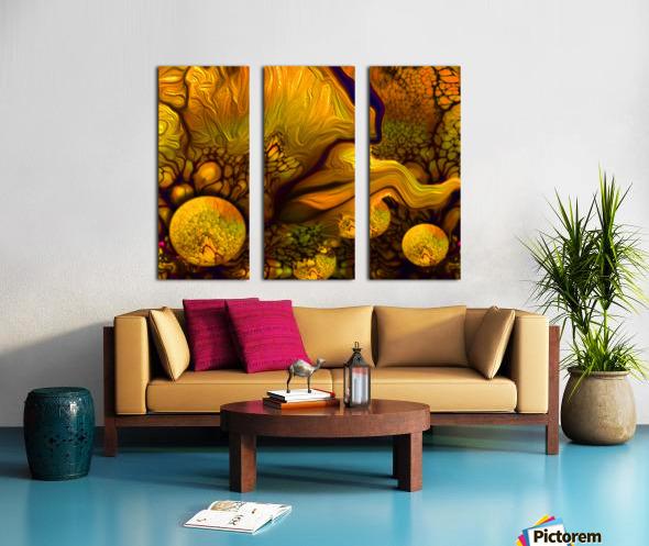 POLLENS SUMMER GLOW 6 Split Canvas print