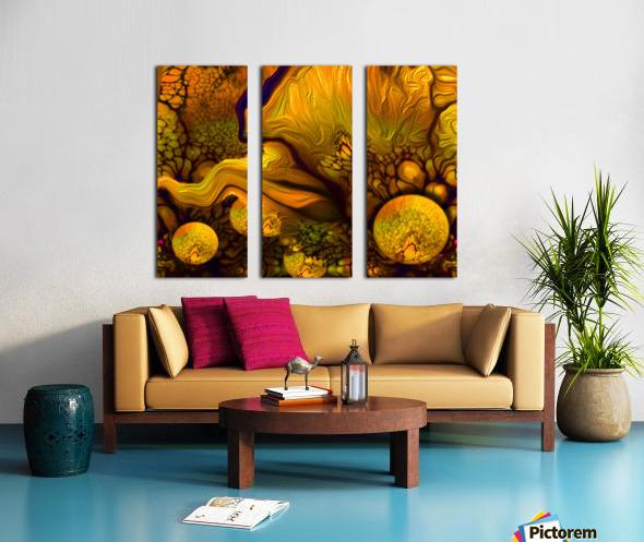 POLLENS SUMMER GLOW 5 Split Canvas print