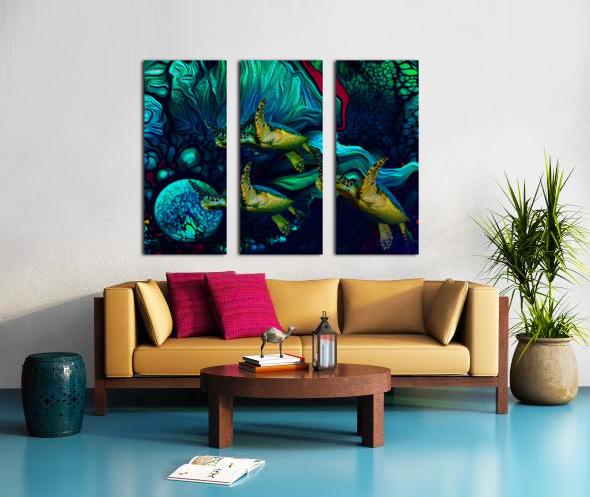 Turtles en Saison 8 Split Canvas print
