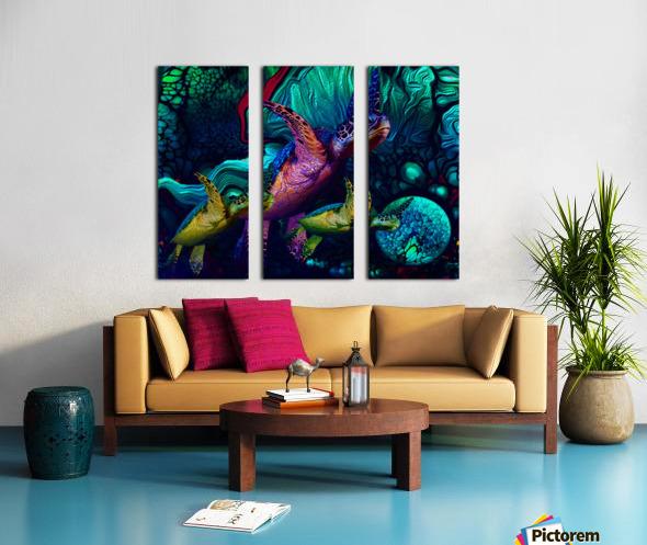 Turtles en Saison 5 Split Canvas print