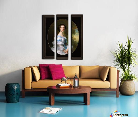 Melanie Renouard de Bussiere by Franz-Xaver Winterhalter Fine Art Xzendor7 Old Masters Reproductions Split Canvas print