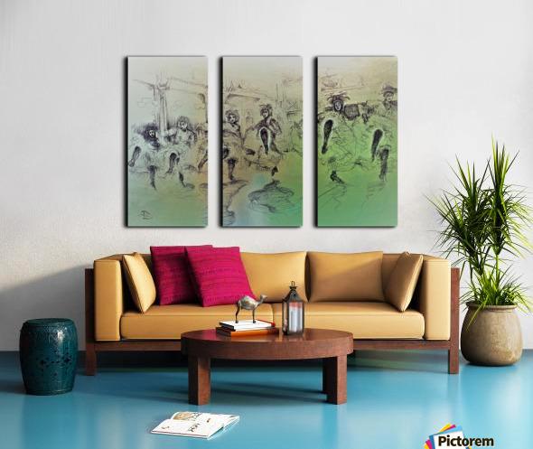 The Bluebell Girls Split Canvas print