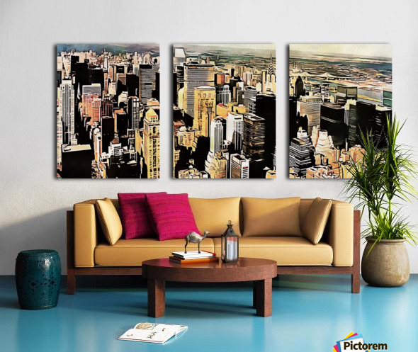 View to the Chrysler Building New York Split Canvas print