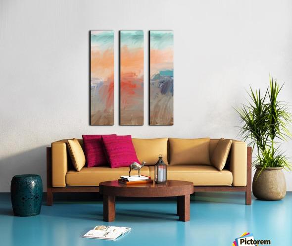 Hot Afternoon Split Canvas print