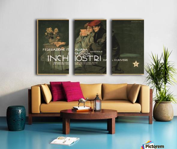 Federazione Italiana Chimico Industriale Padova Inchiostri Da Scrivere Poster Split Canvas print