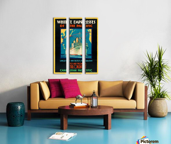 Canadian Pacific Travel Poster Split Canvas print