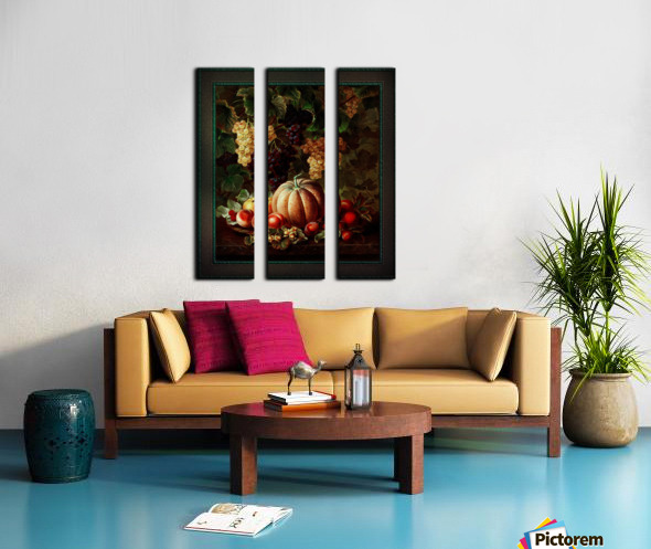 Pumpkin Platter by Johan Laurentz Jensen Classical Fine Art Xzendor7 Old Masters Reproductions Split Canvas print