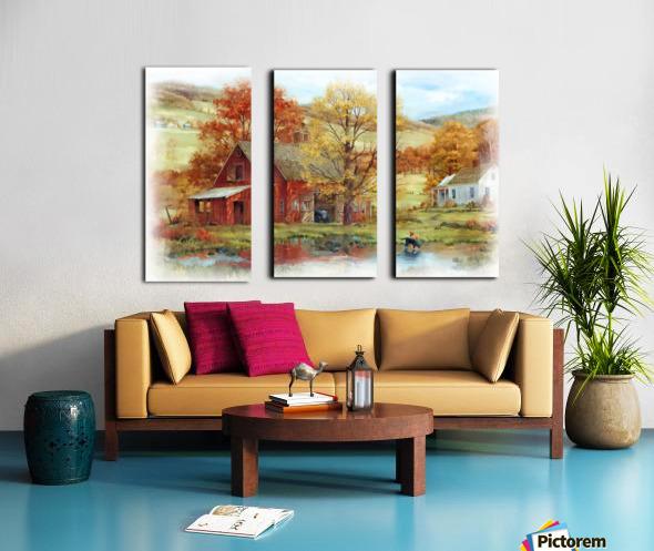 Country Living Split Canvas print