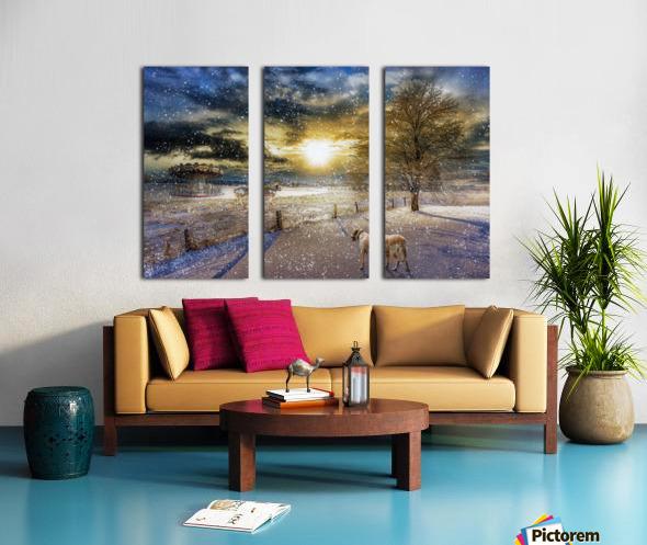 A Magical Winter Night Split Canvas print