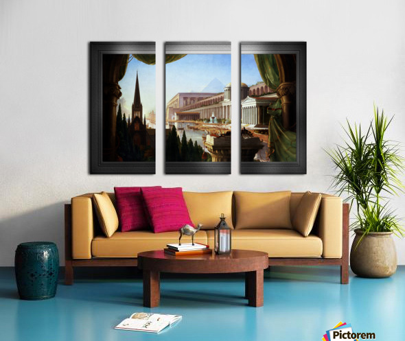 Architects Dream by Thomas Cole Classical Fine Art Xzendor7 Old Masters Reproductions Split Canvas print